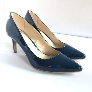 Calvin Klein Nilly Blue Patent Leather Pumps